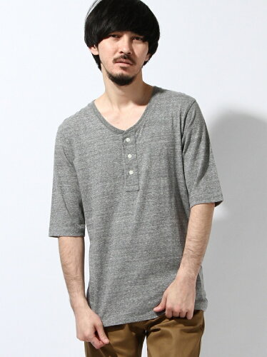 SAKASA HENRYNECKHALF-LENGTH SLEEVE TEE ビターエンダー