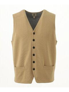 J. Press Houston Gass Cotton Sweater Waistcoat KROVKM0301: Beige