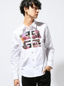 【送料無料】DOWBL メンズ その他 ダブル 【ST_新作】DOWBL パロディーロゴレギュラーシャツ