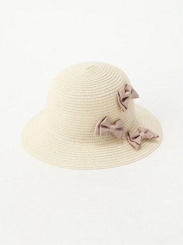 【SALE/50%OFF】petit main 折り畳みリボンHAT ナルミヤオンライン ファッショングッズ キッズ用品 ベージュ ホワイト ネイビー