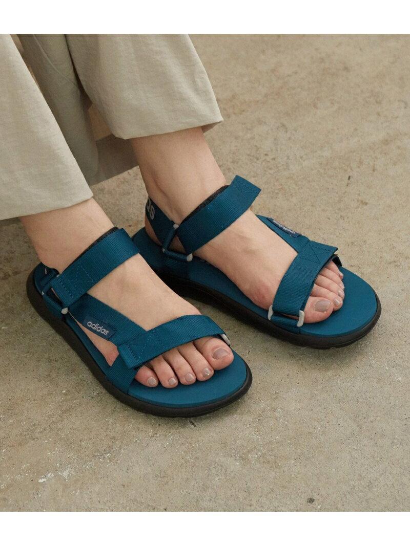 【SALE/24%OFF】ROPE' PICNIC PASSAGE 【adidas】COMFORT SANDALS ロペピクニック シューズ サンダル/ミュール ブルー ブラック画像