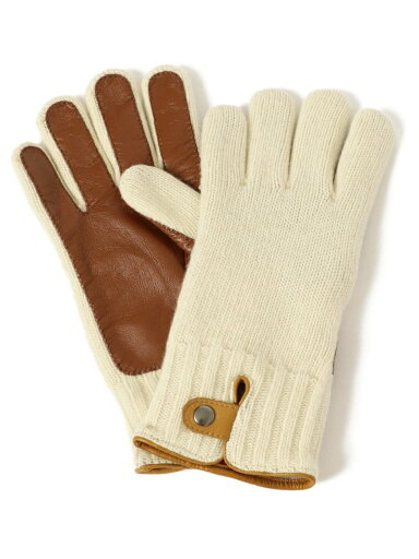 Knit Leather Gloves 118-74-0013: Natural