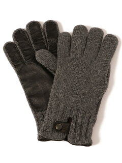 Knit Leather Gloves 118-74-0013: Dark Grey