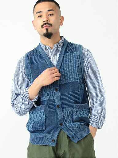 Cotton Indigo Fun Sweater Vest 11-05-0178-156: Indigo