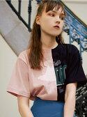 【SALE/45%OFF】FURFUR リメイクバイカラープリントTシャツ ファーファー カットソー【RBA_S】【RBA_E】【送料無料】