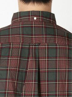 Dark Check Buttondown Shirt 11-11-5970-139: Burgundy