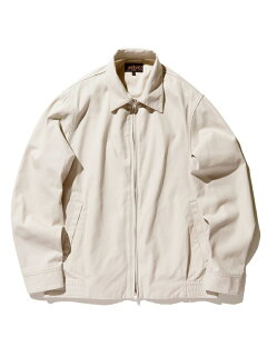Cotton Twill Zip Blouson 11-18-5280-803: Cement