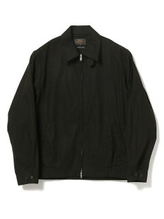 Cotton Twill Zip Blouson 11-18-5280-803: Black