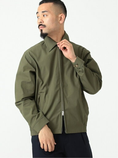 Cotton Twill Zip Blouson 11-18-5280-803: Olive