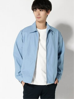 Cotton Twill Zip Blouson 11-18-5280-803: Saxe