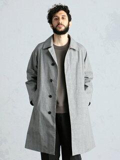 Weather Cloth Raglan Coat 51-19-0273-565: Grey Check
