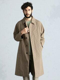 Weather Cloth Raglan Coat 51-19-0273-565: Brown Check