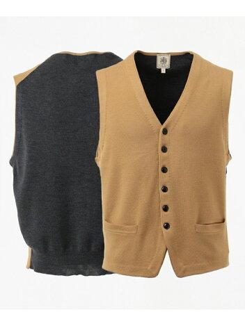 J. Press Cash Wool Sweater Waistcoat KROVYW0210: Beige