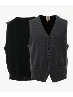 J. Press Cash Wool Sweater Waistcoat KROVYW0210: Grey