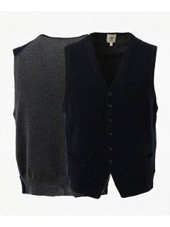 J. Press Cash Wool Sweater Waistcoat KROVYW0210: Navy