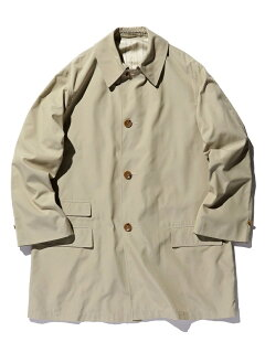 Polyester Cotton Chambray Travel Coat 11-19-1270-803: Beige