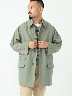 Polyester Cotton Chambray Travel Coat 11-19-1270-803: Olive