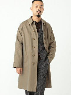 Cotton Silk Chambray Bal Collar Coat 11-19-1271-803: Olive