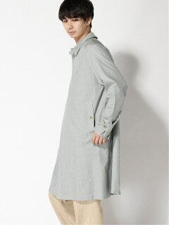 Cotton Silk Chambray Bal Collar Coat 11-19-1271-803: Gun Club Check