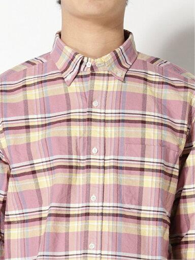 Faded Check Buttondown Shirt 11-11-5971-139: Pink