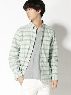 Faded Check Buttondown Shirt 11-11-5971-139: Mint Green