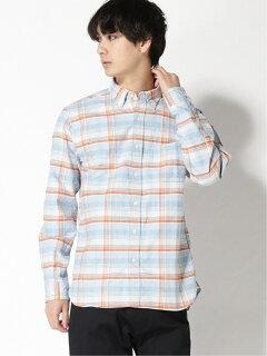 Faded Check Buttondown Shirt 11-11-5971-139: Saxe