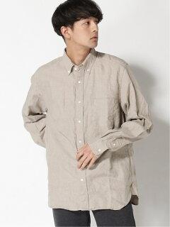 Linen Buttondown Shirt 11-11-5969-139: Natural