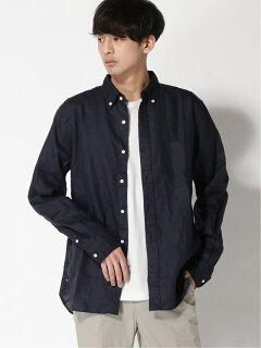 Linen Buttondown Shirt 11-11-5969-139: Navy