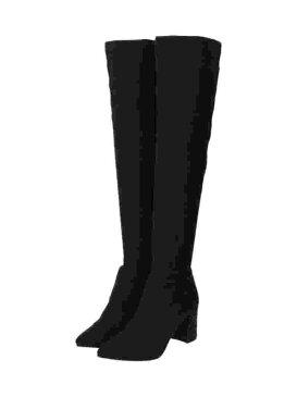 Enpunto ◆ストレッチニーハイブーツ エスペランサ シューズ シューズその他 ブラック【送料無料】