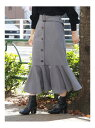 【SALE/40%OFF】dazzlin ペプラムマーメイドスカート ダズリン スカート ロングスカート グレー ピンク グリーン ブラウン【送料無料】