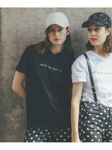 To b. by agnes b. To b. by agnes b./(W)W984 Tシャツ アニエスベー カットソー Tシャツ ブラック ホワイト ピンク【送料無料】