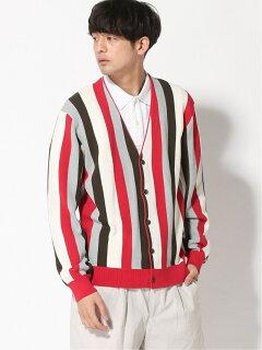Stripe Cardigan 11-15-1327-048: Red
