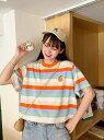 【SALE/10%OFF】Zoe Jenko (W)ポイント刺繍ボーターオーバーサイズTシャツ ゾエ...