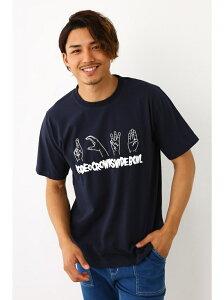 【SALE/30%OFF】RODEO CROWNS WIDE BOWL サイン ランゲージ Tシャツ ロデオクラウンズワイドボウル カットソー Tシャツ ネイビー グレー
