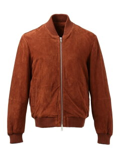J. Press Goat Suede Zip Up Blouson JROVYW0204: Brown