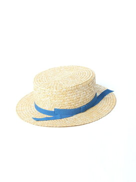Viaggio Blu ーFERRUCCIO VECCHIー ブルーリボンカンカンストローハット ビアッジョブルー 帽子/ヘア小物【送料無料】