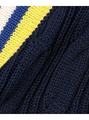 J. Press Cable Cricket Vest KROVKM0022: Navy