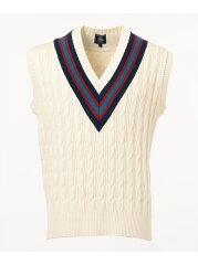 J. Press Cable Cricket Vest KROVKM0022: Ivory