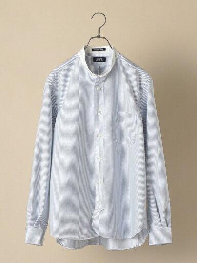 Ike Behar Oxford Band Collar Shirt 111-13-5614