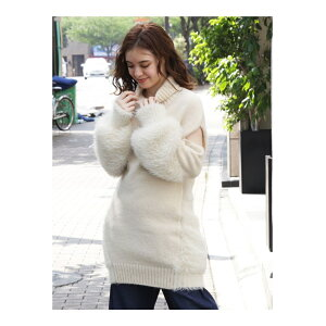 [SALE / 54% OFF] dazzlin Open Shoulder Knit One Piece Dazzrin One Piece Knit One Piece White Blue Beige