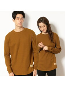 Purple&Yellow 《裏起毛》 ラウンドカット ワッフルTシャツ コムサイズム カットソー Tシャツ ブラウン ホワイト ブラック ベージュ【送料無料】