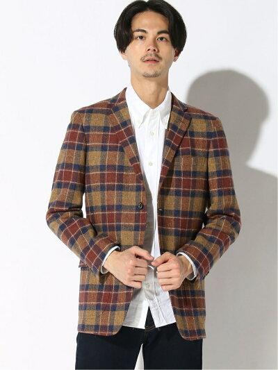 Cotton Tweed Sack Sport Coat BC39507: Brown