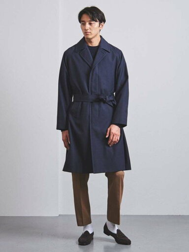 Single Breasted Raglan Trench Coat 1125-299-7309: Navy