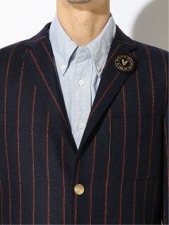 Wool Nylon Ivy Stripe Blazer BW39504: Navy