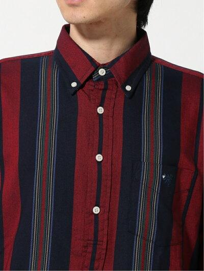 Popover Multi Stripe Buttondown Shirt EN91504: Navy