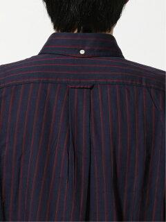Ivy Stripe Buttondown Shirt EN91506: Navy