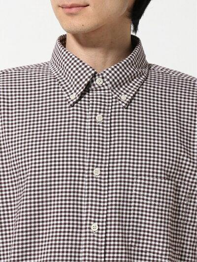 Gingham Buttondown Shirt EN91510: Brown