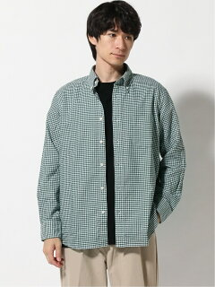 Gingham Buttondown Shirt EN91510: Green