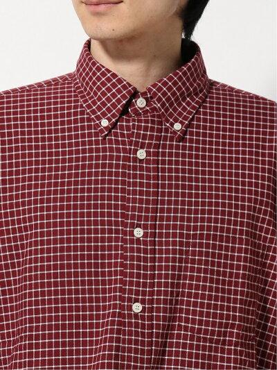 Graph Check Buttondown Shirt EN91512: Burgundy