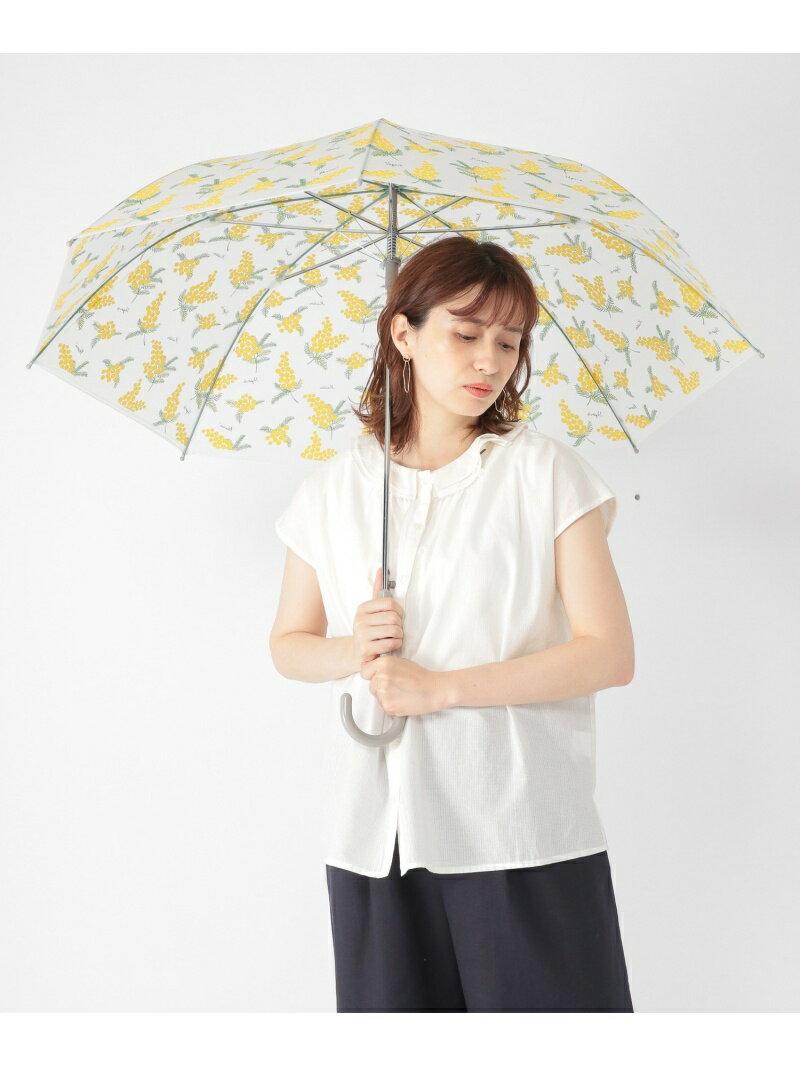 studio CLIP ミモザプリント9ビニカサ スタディオクリップ ファッショングッズ 長傘 イエロー ホワイト